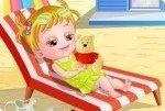 Baby Hazel Strandbesuch