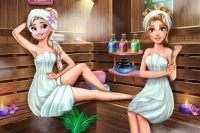Elsa in der Sauna