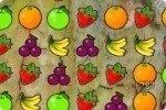 Obst in einer Reihe