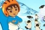 Snowboarden mit Diego