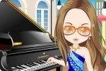 Straßen Pianist ankleiden