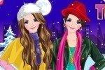 Zwillinge in Wintermode